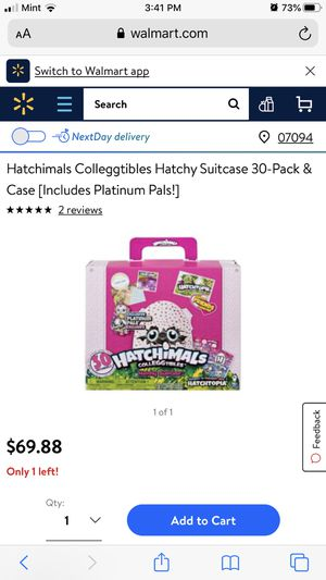30 Hatchimals suitcase for Sale in Jersey City, NJ