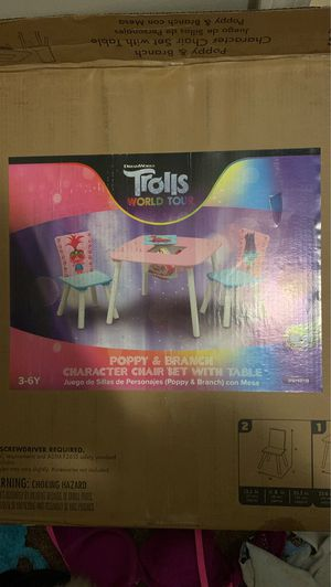 Trolls world Tour Table and chair set for Sale in Decatur, GA