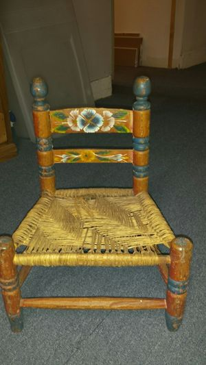 Folk art antique child's chair for Sale in Seattle, WA