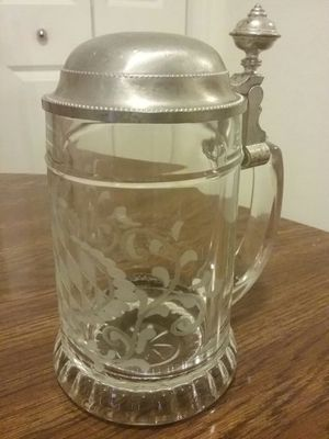 Collectible Glass and Pewter Beer Mug for Sale in Houston, TX