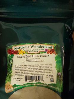 Sealed 16 Oz Sweet Basil Herb for Sale in Orlando,  FL