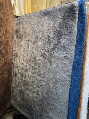 5x7 grey super soft long hair shaggy rug brand new shaggy carpet for Sale in Los Angeles, CA