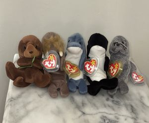 TY Original beanie Babies Sea Animals for Sale in San Leandro, CA