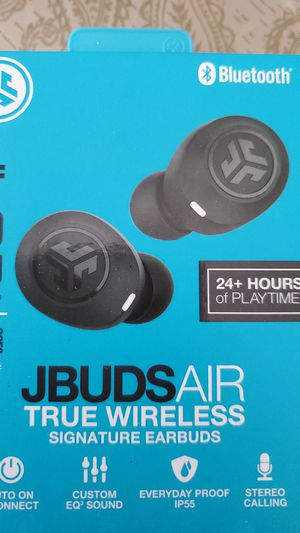 JLab Audio JBuds Air True Wireless Signature Bluetooth Earbuds, Charging Case for Sale in Lemoore, CA