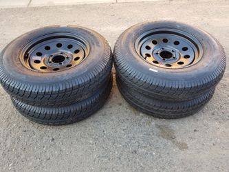 trailer tires ST205/75D15 (5on 4.5 bolt pattern) for Sale in Lake View Terrace,  CA