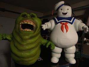 Slimer and marshmallow man set for Sale in Spring, TX