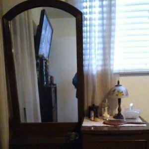 Antique Dresser And Cute Lamp for Sale in Visalia, CA
