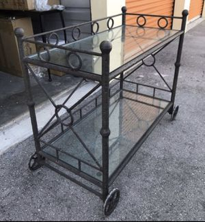 Wrought iron Restoration Furniture patio service cart for Sale in Miami, FL