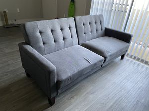 Grey Futon Couch for Sale in Las Vegas, NV