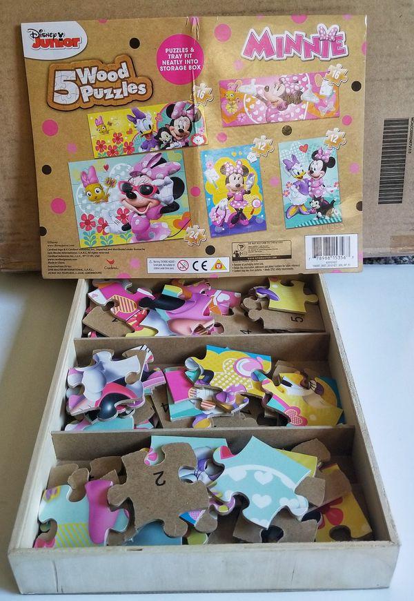 Disney wooden puzzle game set