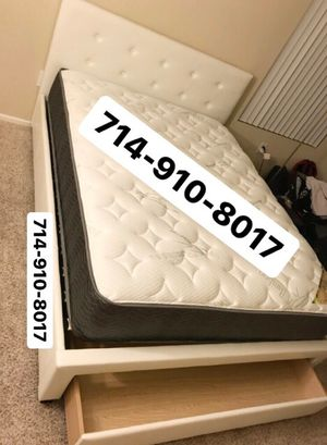 Queen bed frame & Mattress for Sale in Fountain Valley, CA