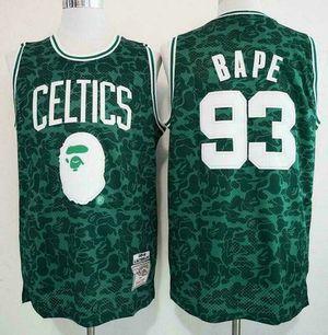 A BATHING APE Bape x Mitchell & Ness NBA Boston Celtics Basketball Jersey for Sale in Rosemead, CA