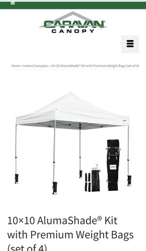10×10 NEW Caravan Canopy Kit with Weight Bags for Sale in West Hollywood, CA