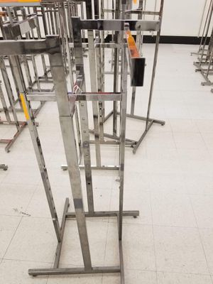 Heavy duty used chrome metal 4 way adjustable rack for Sale in Springfield, VA