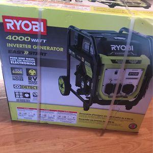 Ryobi 4,000 Watt Inverter Generator for Sale in Philadelphia, PA