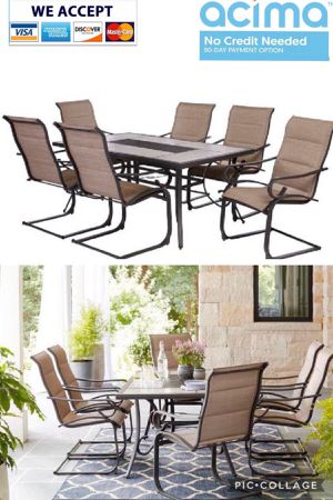 Patio furniture set with 6 chairs for Sale in Riverside, CA