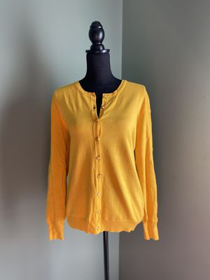 Mustard yellow button down cardigan for Sale in Bristow, VA