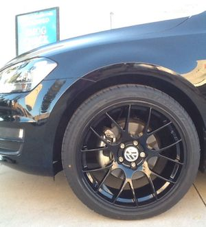 """19""""glossy black new wheels/new tires for VW GOLF 2017 for Sale in Monterey Park, CA"""