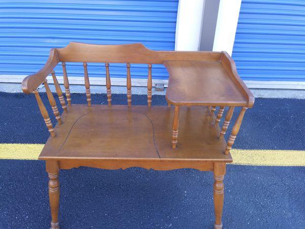 """Antique """"Phone Chair"""""""