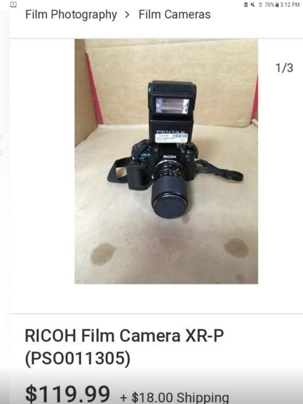 RICOH XR-P 35MM FILM CAMERA
