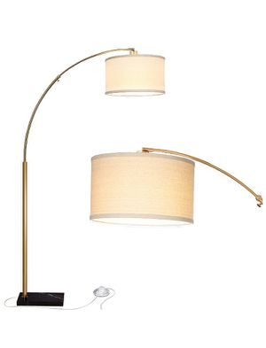 Brightech Logan LED Arc Floor Lamp With Marble Base, Brass Gold for Sale in Los Angeles, CA