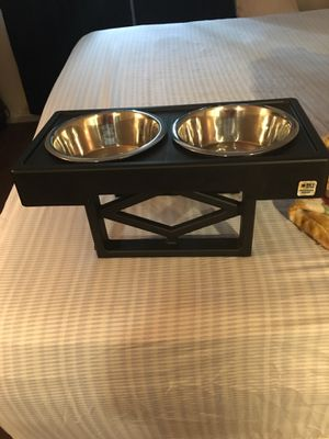 Elevated dog feeder and no pull chest harness for Sale in Mullica Hill, NJ