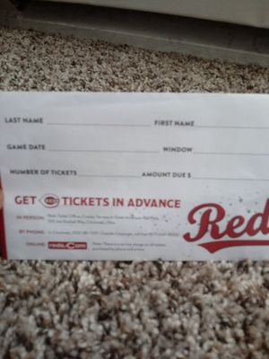 Reds game tickets for Sale in Cincinnati, OH
