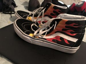 high top flame vans for Sale in Farmers Branch, TX