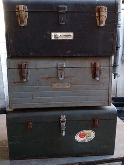 Tool Boxes Antique Metal Good Shape $25 Each for Sale in Covina,  CA