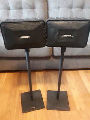 Bose Model 101 Music Monitor speakers with stands for Sale in Mabank, TX
