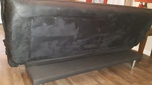 Futon black , good condition, opens comfortably for Sale in Oklahoma City, OK