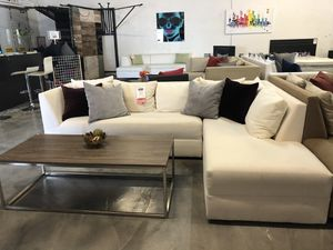 White 2PC Sectional 🏷 for Sale in Hialeah, FL