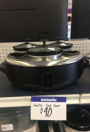 Triple dipper crock pot for Sale in Houston, TX