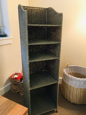 Small Green Wicker Shelf for Sale in Portland, OR