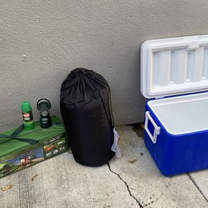 NEW Never Used Camping Gear One Stop Shop, Tent, Tarps, Sleeping Bag, Cooler, Light, Etc. for Sale in Los Angeles, CA