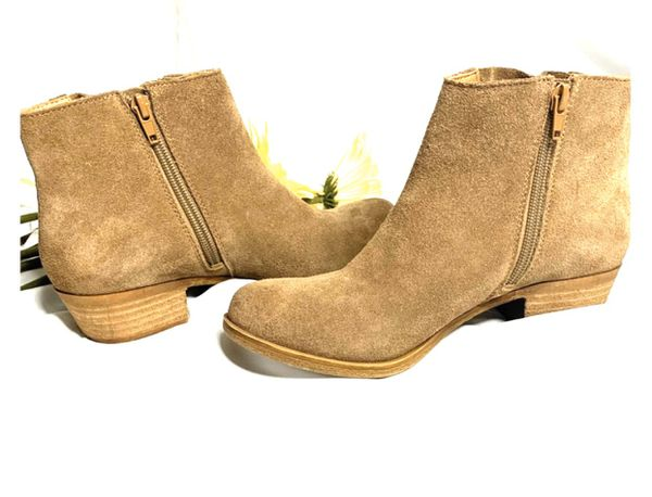 Lucky Brand Tan Fringe Booties
