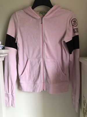 Pink and brown Juicy Couture track zip hoody for Sale in Fulton, MD