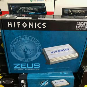 Hifonics zeus amp on sale today for 89 bucks for Sale in Long Beach, CA