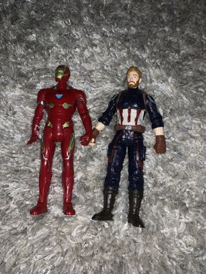 Iron man and Captain America action figures for Sale in East Brunswick, NJ