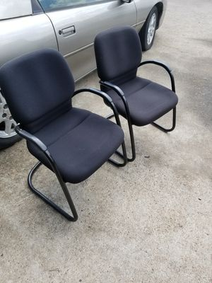 Black guest chairs $40 each (good condition) for Sale in Houston, TX