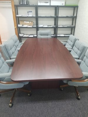 Conference Desk w Chairs for Sale in Tucson, AZ