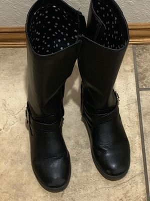 Cat and Jack black boots for Sale in Norman, OK