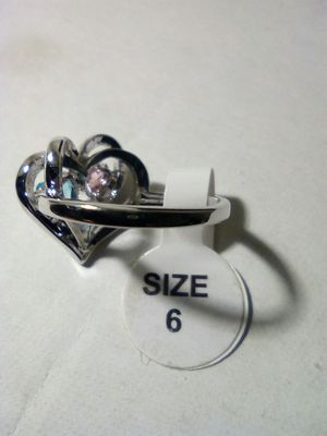 Stainless steel heart ring size 6 for Sale in San Diego, CA