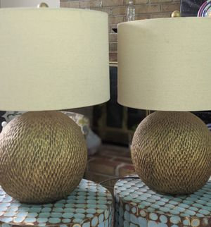 Creek Classics 25-inch Antique Gold ball Table Lamp for Sale in Bowie, MD