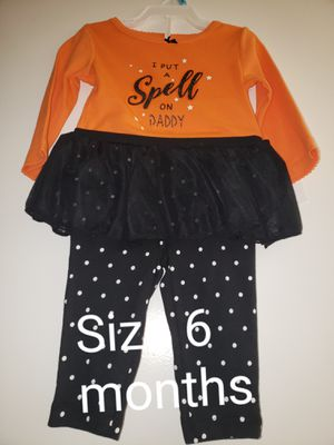 """Halloween Outfit size 6 months- """"I put a spell on daddy"""" for Sale in Renton, WA"""