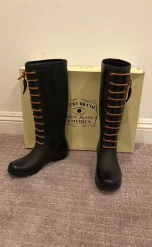 Lucky brand rain boots size 7 for Sale in Yorba Linda, CA