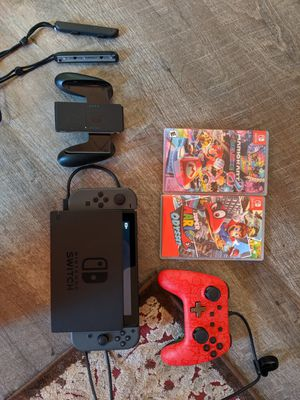 Nintendo switch with Mario Odyssey and Mario kart 8 for Sale in Chesapeake, VA