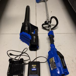 Kobalts 80V 16-inch String Trimmer, 500 CFM 125 MPH Blower, 2.5 Ah Battery and Charger for Sale in Orlando, FL
