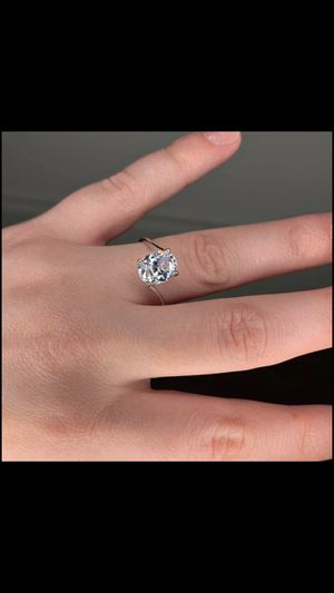 (FREE SHIPPING) Brand New 925 Silver Diamond Woman's Jewelry Wedding Band Engagement Ring for Sale in Kansas City, MO