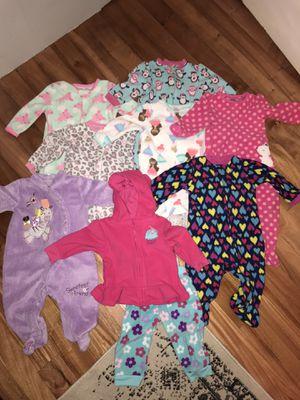 Baby Girl Fleece Clothing Lot - 6-9 Months - Sleepers for Sale in San Antonio, TX